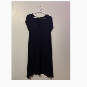 Long Loose Black Dress from Lily Mongram